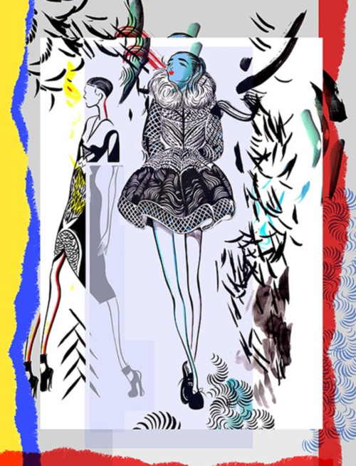 Jo Ratcliffe - Peter Pilotto fashion illustration