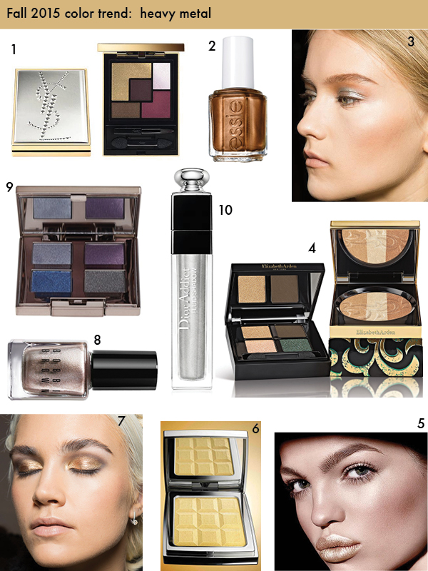 Fall 2015 beauty trend - metallics