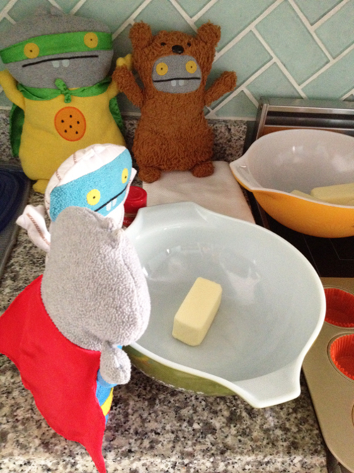 Anxiously waiting for the butter to soften