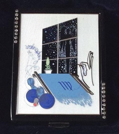 Erté Estée Lauder zodiac compact, Virgo