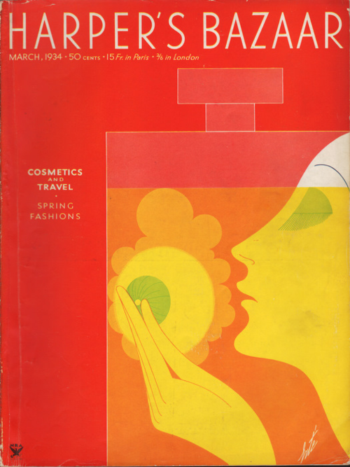 Erté - Harper's Bazaar cover, March 1934
