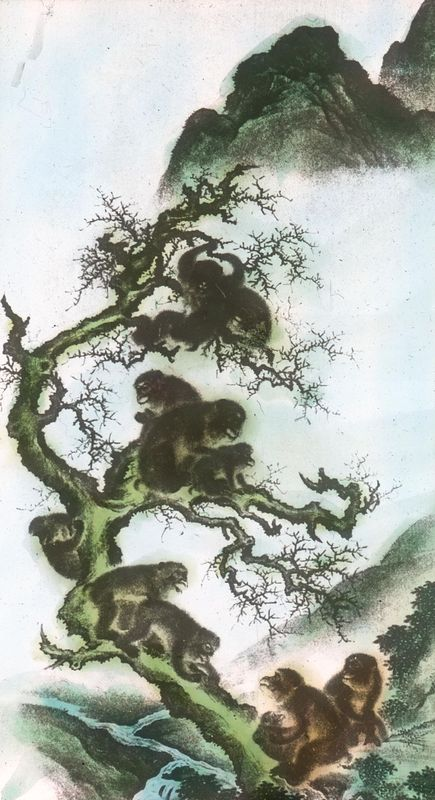 Monkeys on a Limb by Mori Sosen, 18th century