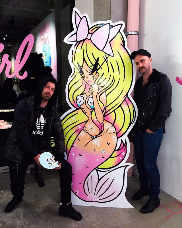 Bei Badgirl mermaid painting, Ambush gallery