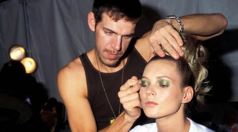 Kevyn Aucoin with Kate Moss