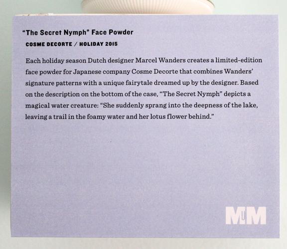 Cosme Decorte Marcel Wanders The Secret Nymph