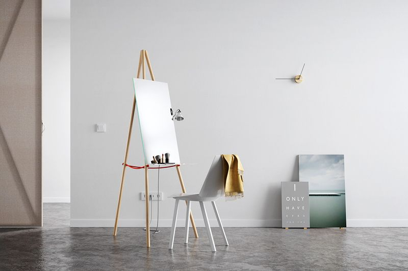 Makeup mirror table by Victor Pucsek