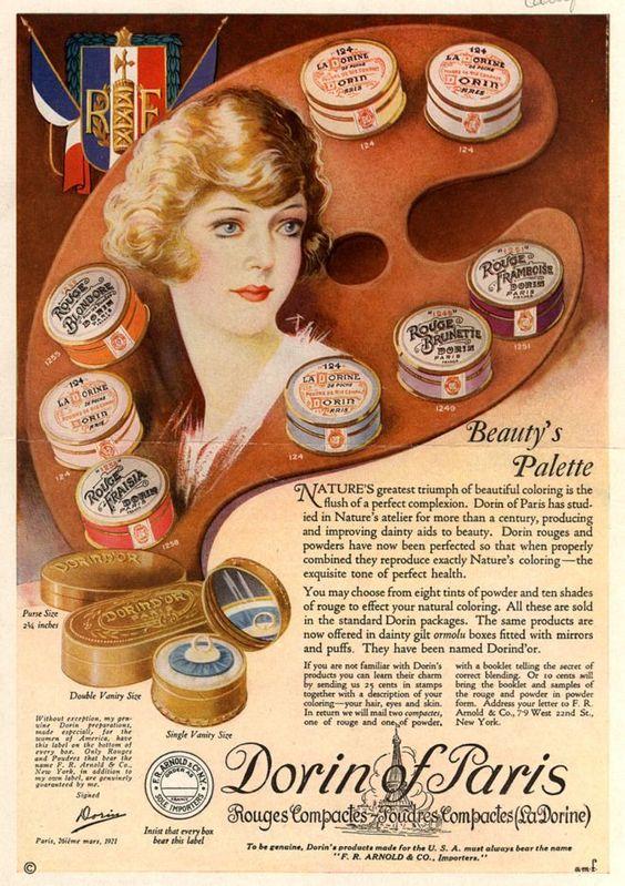 Dorin of Paris ad, 1922