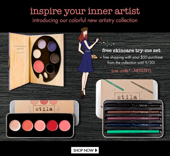 Stila artistry collection promo, 2013
