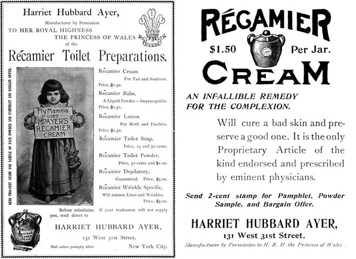 Ayer Récamier ads, 1895