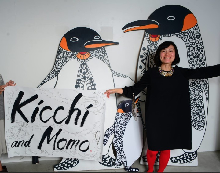 Satoko-Wada-with-penguins