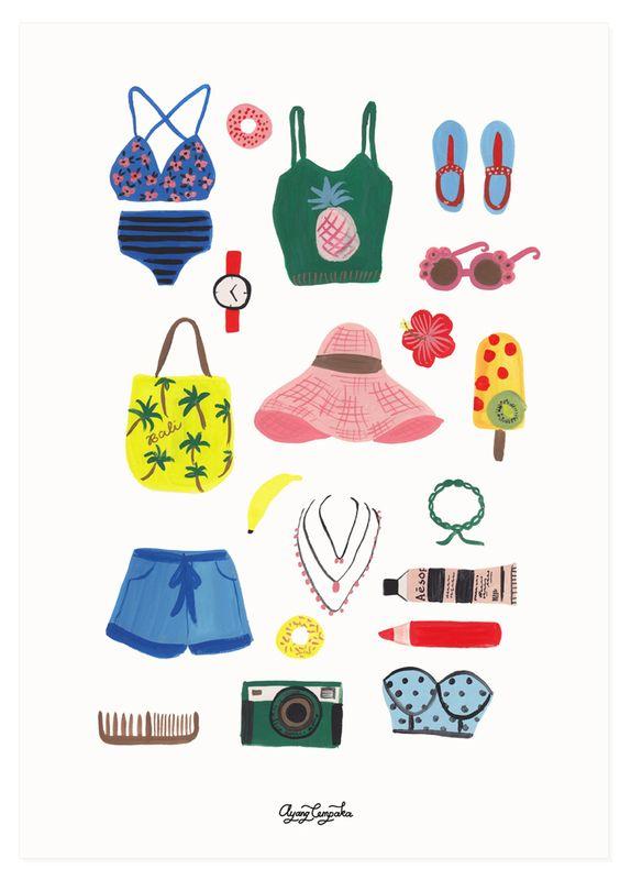 Ayang Cempaka summer print