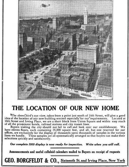 Geo. Borgfeldt & Co. headquarters, ca. 1910