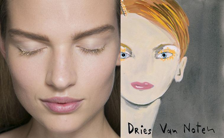 Konstantin Kakanias - Dries Van Noten spring 2014 makeup