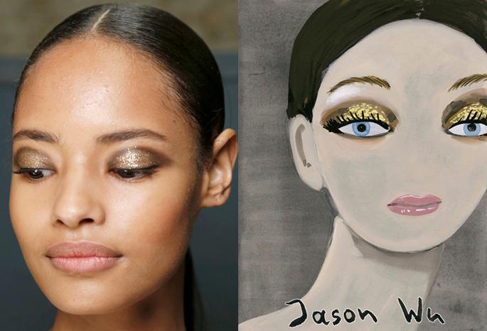 Konstantin Kakanias - Jason Wu spring 2014 makeup