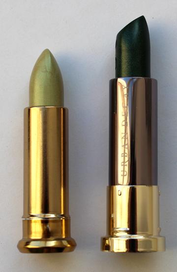 Urban Decay lipsticks, '90s vs. 2016