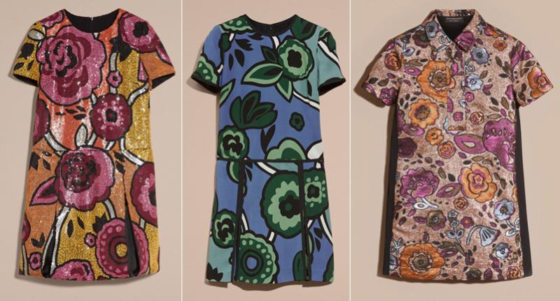 Burberry fall 2016 dresses