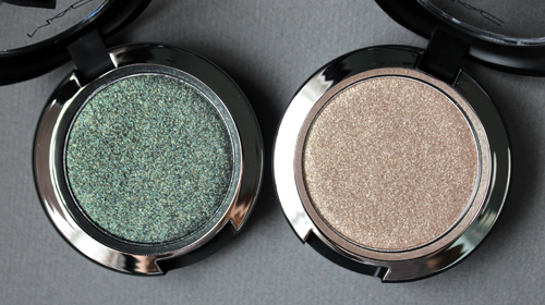 MAC Bird of Prey and The Naked Time pressed pigments