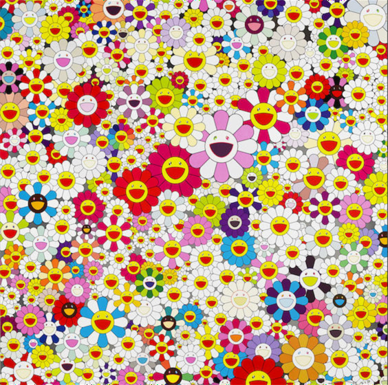 Takashi Murakami, Flowers in Heaven, 2010