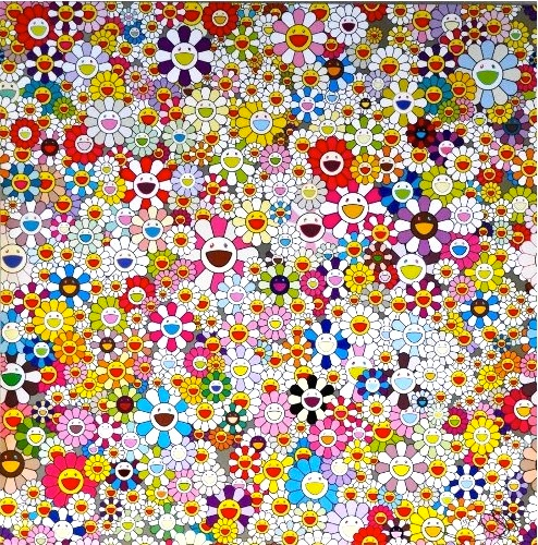 Takashi Murakami - Flowers Blooming in This World and the Land of Nirvana, 2013