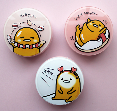 Gudetama x Holika Holika BB cushion cases