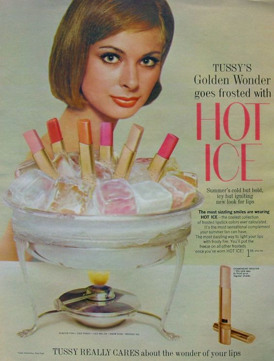 Tussy Hot Ice ad, 1964