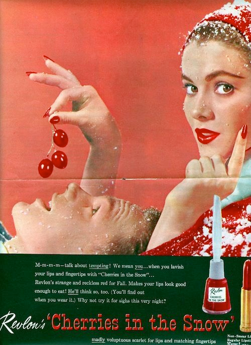 Revlon Cherries in the Snow ad, 1952