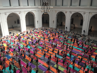Yoga at the Brooklyn Museum