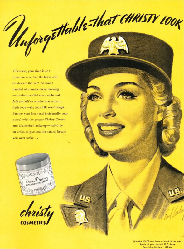 Christy Cosmetics ad, 1944