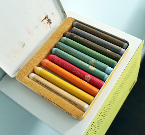 Mary Quant crayon set