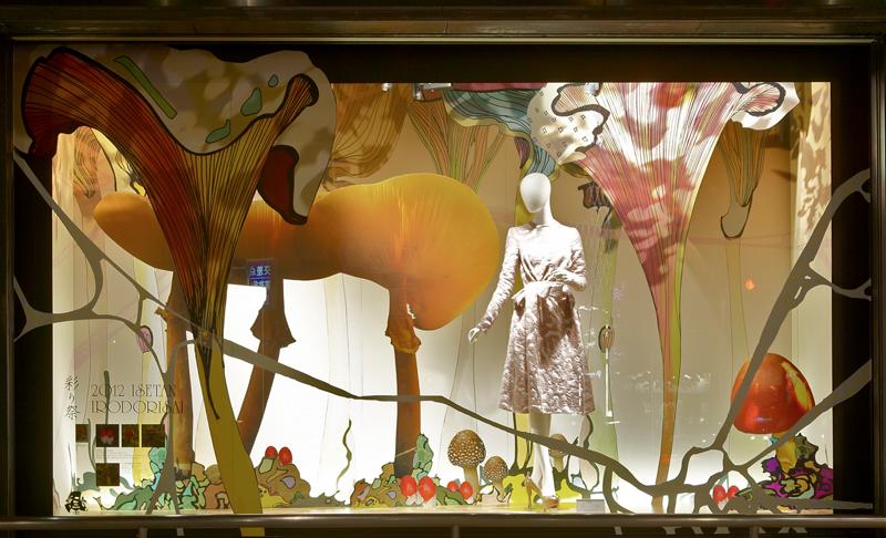 Przemek Sobocki store display for Isetan