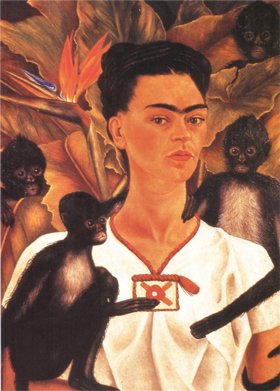 Frida Kahlo, Self-Portrait with Monkeys, 1943