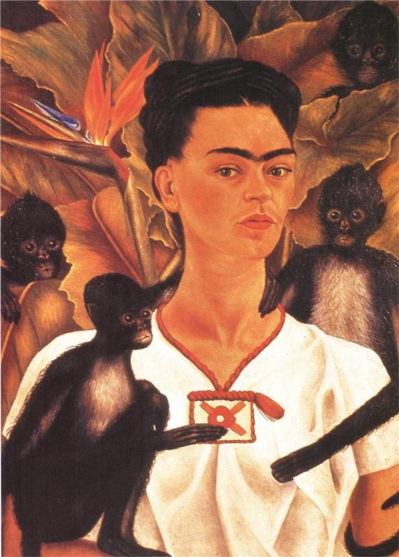Frida Kahlo, Self-Portrait with Monkeys, 1943