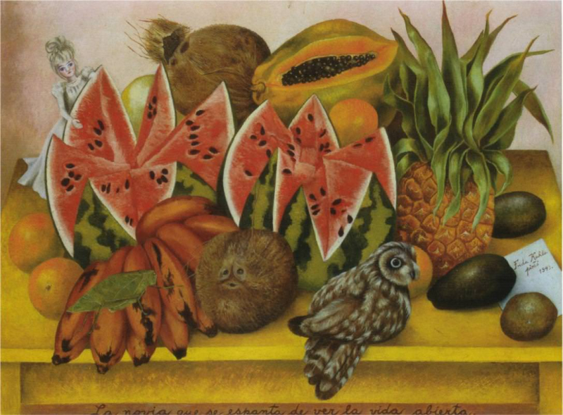 Frida Kahlo, The Bride Frightened at Seeing Life Opened, 1943