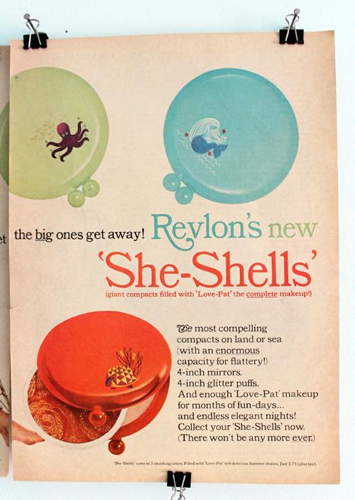 Revlon She Shells ad, 1965