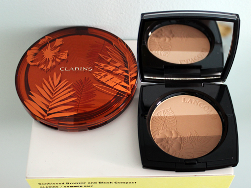 Clarins Sunkissed bronzer and Lancome Belle de Teint
