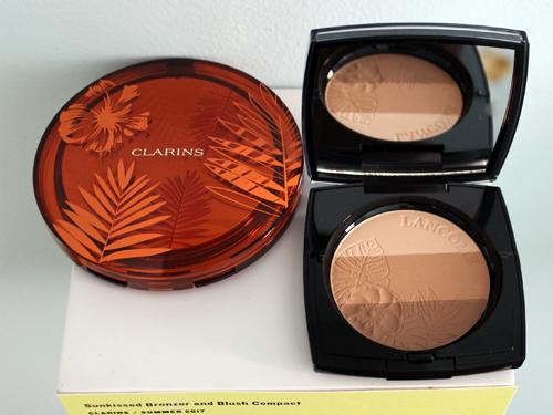 Clarins Sunkissed bronzer and Lancome Belle de Teint
