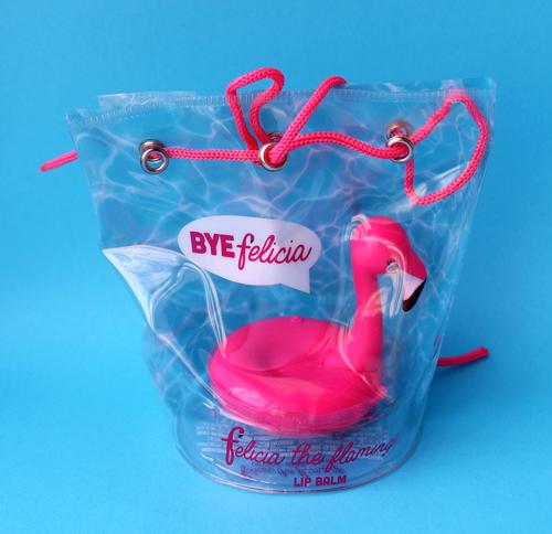Taste Beauty Felicia the Flamingo lip balm