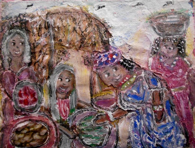 Gloria Garrett, African Market, 2013
