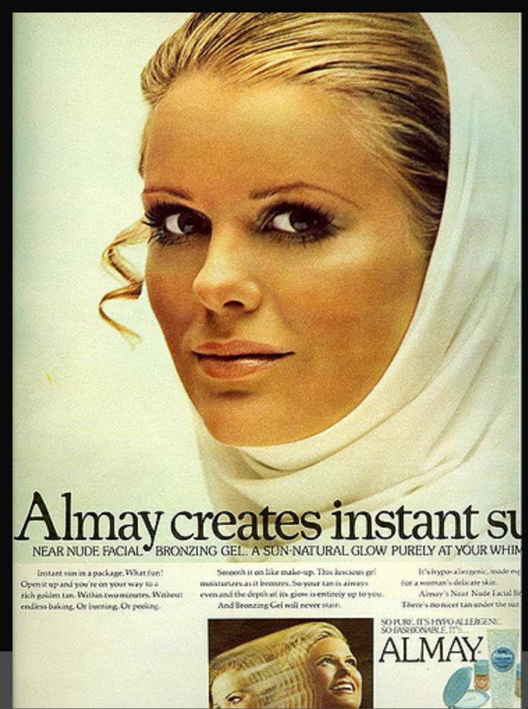 Almay sun gel 1970
