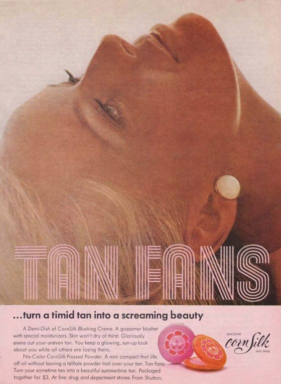 Ad for Corn Silk Tan Fans, 1969