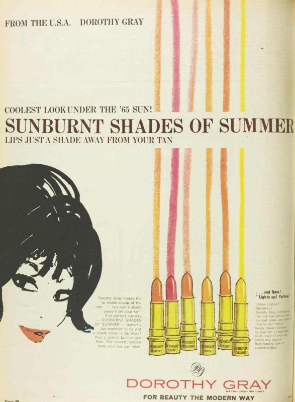Dorothy Gray ad, 1965