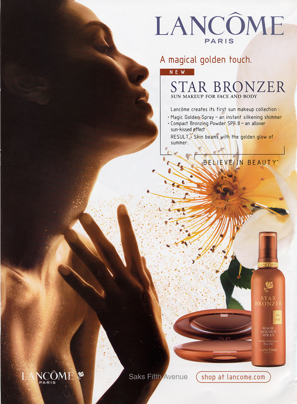 Lancome Star Bronzer ad, 2003