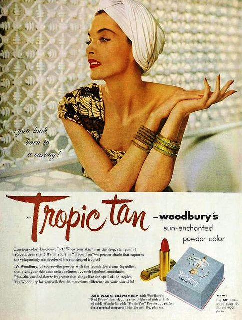 Ad for Woodbury Tropic Tan ad, 1951