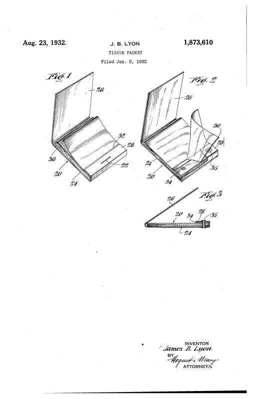 Lipstick tissue compact patent