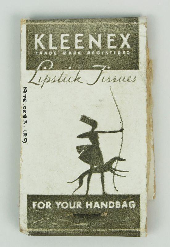 Kleenex lipstick tissues, ca. 1937