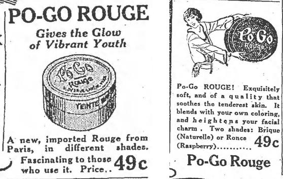 Po-Go Rouge ads, 1924
