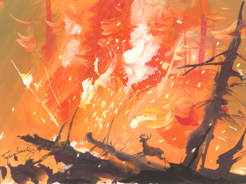 Tyrus Wong - concepts for Bambi