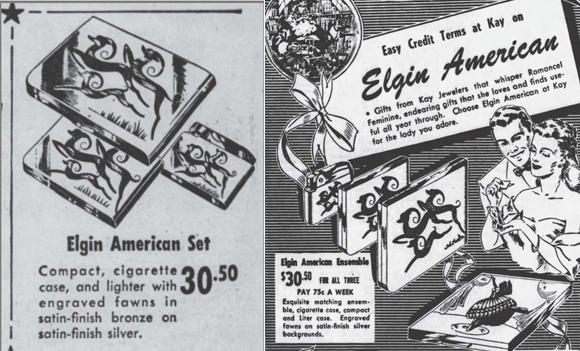 Elgin compact ads, December 1948