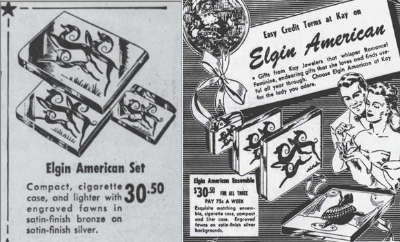 Elgin compact ads, December 1948