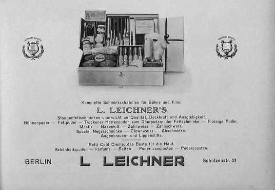 Leichner makeup ad, ca. 1923